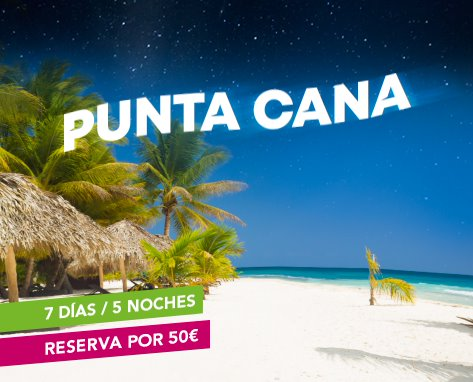 Paquetes vacacionales a Punta Cana